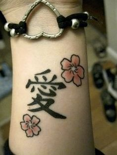 Japanese symbol for love tattoo