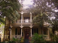 Vanishing South Georgia Savannah Chatham County GA Forsyth Park Whitaker Street Victorian Architecture House Mansion Photograph Picture Image Copyright Brian Brown