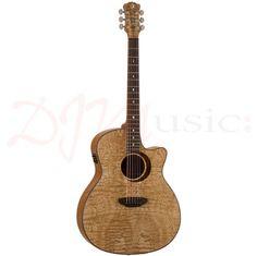 Luna Woodland Quilt Ash Electro Acoustic Guitar