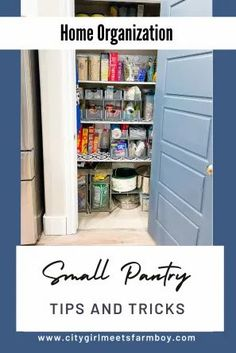 Small Pantry Pin Tiny Pantry, Small Pantry Organization, Organization Hacks, Pantry Ideas, Clean House Schedule, House Cleaning Checklist, Cleaning Hacks, Diy Kitchen Projects, Kitchen Ideas
