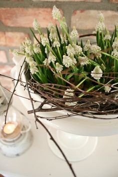 White ones and birch branches - VIBEKE DESIGN