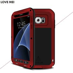 Original Love Mei Metal Aluminum Dirt Waterproof Powerful Case Cover For Samsung Galaxy S7/G9300 Cell Phone Cases For S7
