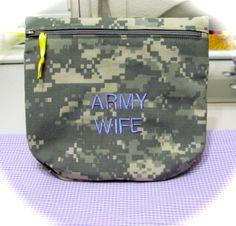 ARMY wife ACU make up bag i made.  $12.00
