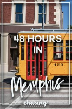 48 hours in Memphis, Tennesse is just enough time to eat barbeque and find iconic moments in American history. Memphis is the birthplace of Rock 'n' Roll, home of the blues, and has plenty of soul. Downtown Memphis, Nashville Trip, Memphis Tennessee, Tennessee Waltz, National Civil Rights Museum, Spring Break Trips, Tennessee Vacation, Blue City, Viewing Wildlife