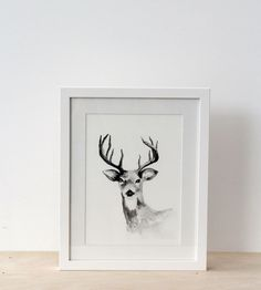 Father Rabbit Framed Print | Deer