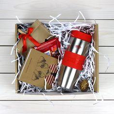 Подарок для ваших колег с блокнотом и термокружкой ...