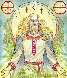 Baldr by UnripeHamadryad -Figlio prediletto di Odino è Baldr. É il migliore di tutti e tutti lo lodano: è così bello e brillante da irraggiar luce.Ma la freccia, purtroppo,  lo uccise