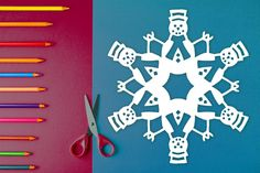 Easy-to-follow paper snowflake patterns with steps on how to fold & cut out a snowflake with images in them! Decorate your home or office, send gifts, create a banner for a winter birthday party, and more. $1 PDF Download to print out at home and create a cute, one-of-kind paper snowflake. Perfect for arts & crafts, holiday decorations, homeschool art lessons, gifts, and table decor. #snowflake #papersnowflake #papersnowflakes #snowflakes #pattern #DIY #Christmas #xmas #snowflakepattern Paper Snowflake Template, Paper Snowflake Patterns, Paper Snowflakes, Create A Banner, Winter Birthday Parties, Print And Cut, Art Lessons, Snowman, Arts And Crafts