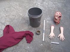 How to Make Zombies with Buckets - Halloween Prop Tutorial