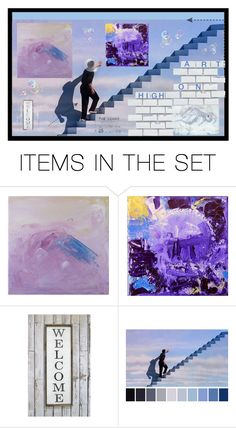 """""""Art on High"""" by muskrosevintage ❤ liked on Polyvore featuring art, etsy and etsyevolution"""