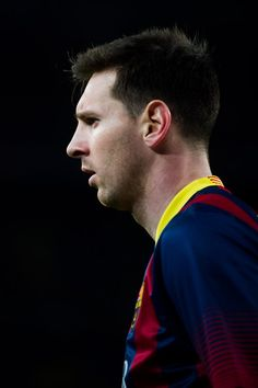 Leo Messi of FC Barcelona looks on during the La Liga match between FC Barcelona and UD Almeria at Camp Nou on March 2, 2014 in Barcelona, Catalonia.