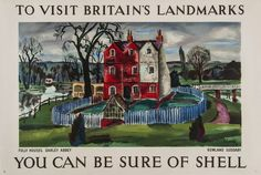 SUDDABY Rowland, (1912-1972 ) YOU CAN BE SURE OF SHELL, Darley Abbey lithograph in colours, 1937