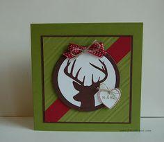 Stampin'Up! zur Hochzeit Remembering Christmas, Hearts a Flutter, Tiny Tags Hirsch zur Hochzeit