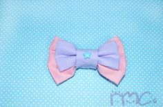 Pastel Pink and Purple Hair Bows Kawaii Double Bows Cute Girls Bows Lolita Fairy Kei Hair Bows Pastel Goth Hiar Bow Clip by RachelMarieClay on Etsy