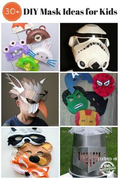Tons of super fun DIY mask ideas for kids!