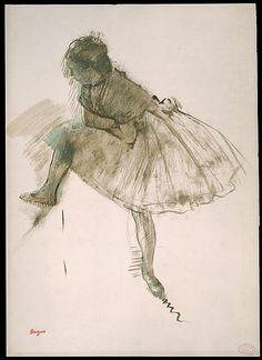 Study of a Ballet Dancer (recto)  Edgar Degas (French, Paris 1834–1917 Paris)