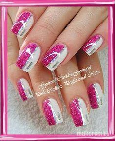 #nail #nails #nailart #beauty #nailsalon #naildesign #nailstyle #style #pinkcadillac #white #silver #pink