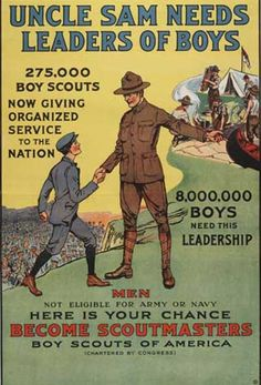 Uncle Sam Needs Leaders of Boys Boy Scouts Poster Get premium, high resolution news photos at Getty Images Boy Scout Troop, Scout Leader, Cub Scouts, Girl Scouts, Scout Mom, Boys Life Magazine, Scout Camping, Pop Culture References, Eagle Scout