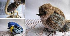 Nádherní ptáčci z vlny a podrobný návod jak je vyrobit