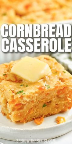 Cornbread casserole is the ultimate side dish and pairs perfectly with so many entrees! Make this delish corn casserole for a crowd. #spendwithpennies #cornbreadcasserole #sidedish #recipe #jiffy #sweet #sourcream #easy #creamy #loaded Corn Recipes, Side Dish Recipes, Fall Recipes, Mexican Food Recipes, Holiday Recipes, Side Dishes, Cornbread Recipes, Ethnic Recipes