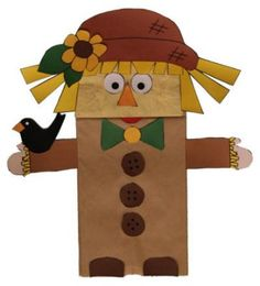 Paper Bag Scarecrow: Get free directions! : Paper Bag Scarecrow: Get free directions! Autumn Crafts, Fall Crafts For Kids, Thanksgiving Crafts, Holiday Crafts, Art For Kids, Kid Art, Spring Crafts, Scarecrow Crafts, Halloween Crafts