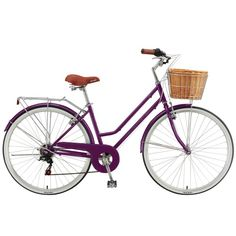 Classique Ladies Retro Bicycle with Cane Basket - 27941 For Sale, Buy from Bikes collection at MyDeal for best discounts. Retro Bicycle, Vintage Bicycles, Sports Equipment, No Equipment Workout, Cane Baskets, Used Bikes, Bikes For Sale, Mountain Bicycle, Bike Accessories