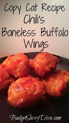 Copy Cat Recipe – Chili's Boneless Buffalo Wings