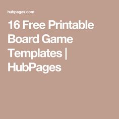 16 Free Printable Board Game Templates | HubPages