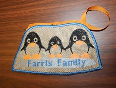 Penguin family (3) decoration ITH embroidery machine pattern