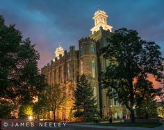 "Logan, Utah LDS Temple at sunset ""Exquisite Moments"" by James Neeley, via Flickr"