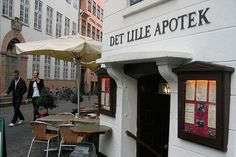 Det Lille Apotek, 1720 (Copenhagen, Denmark).  The restaurants i've put into my bucket list are some of the oldest in the world.  would love the opportunity to eat at them!
