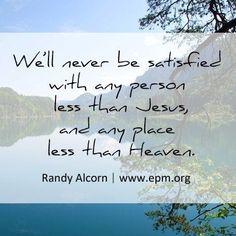 Randy Alcorn On Heaven Quotes. QuotesGram