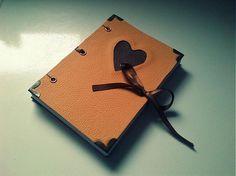 ardeas / Srdce (kožený zápisník A6) leather book, handmade bookbinding