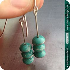 Turquoise Zen Chimes Upcycled Tin EarringsYou Choose the Jewelry Art, Vintage Jewelry, Unique Jewelry, 30th Birthday Gifts, Vintage Cross Stitches, Head Pins, Wind Chimes, Zen, Upcycle