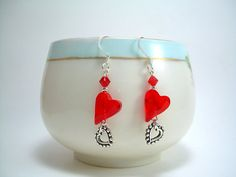 Hearts Delight  Swarovski Heart Crystal and by JewelFireDesigns