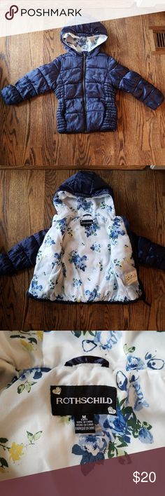 1360488f8ce Rothschild Navy Blue Puffer Coat with Hood Size 3T Darling Warm Rothschild  Navy Puffer Coat with