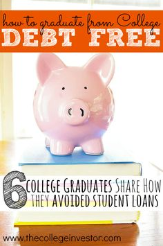 Do you want to graduate college debt free? Six recent graduates share how to do it! These are such inspiring stories and proof that anyone go to college without taking on student loans! Paying Off Student Loans, Student Loan Debt, Planning Budget, College Planning, College Tips, Refinance Mortgage, Saving For College, Scholarships For College, College Students