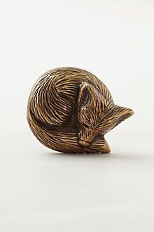 Anthropologie Forest Critter Knob, $12. Would be perfect for hardware in a woodland nursery.