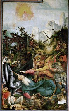 Mathias Grunewald - The Temptation of Saint Anthony (1512-15)  the greatest German Rennaisance artist