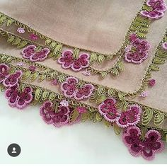 This Pin was discovered by Büş Crochet Unique, Crochet Art, Crochet Stitches, Embroidery Stitches, Embroidery Designs, Crochet Edgings, Needle Tatting, Needle Lace, Thread Art