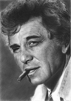 Peter Falk by MarmaladeMoron (pencil drawing)  | First pinned to Celebrity Art board here... http://www.pinterest.com/fairbanksgrafix/celebrity-art/ #Drawing #Art #CelebrityArt