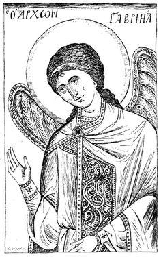 Iconography - Byzantine icons - eikonografos.com - ΒΥΖΑΝΤΙΝΑ ΣΧΕΔΙΑ - Byzantine Sketches and drawings/gabriel1