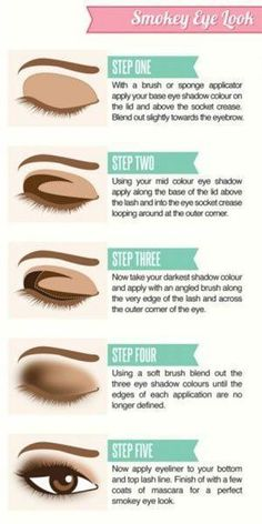 This smokey eyes makeup hacks are just the BEST!! Glad to have found these amazing eye makeup tips and tutorials. Pinning for later!! #eyemakeuptips