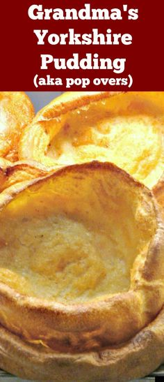 Yorkshire Pudding, a.k.a. popovers are so delicious! Serve as part of a main meal with lots of gravy, or as an appetizer and fill them with goodies. You can also serve these as a dessert, adding some nice fruits or pie filling and ice cream! You decide. They are so yummy! Make in one pan or mini muffins. via @lovefoodies