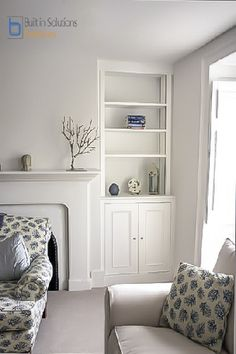 New Living Room Storage Cupboards Fireplaces Ideas Alcove Storage, Alcove Shelving, Cupboard Storage, Kitchen Storage, Storage Ideas, Alcove Ideas Living Room, Living Room Storage, Bedroom Storage, Bedroom Nook