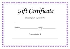Birthday Gift Certificate Templates  Vouchers    Gift