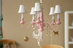 great haning light for a little girls room. So cute!