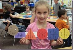 The Fraction Bug - some ideas for introducing fractions!  Color coding is a great way to differentiate fractions.