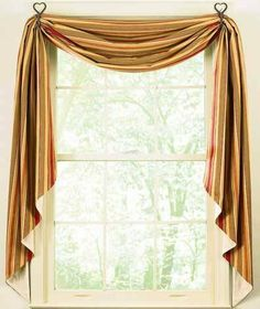 """Palermo Fishtail Swag 145"""" X 25"""" by Swag. $44.99. Valances available. Beautiful. Durable. 100% Cotton. Elegant. Palermo, the best of Sicilia is captured in OCE's newest pattern . . . bathed in rich tones of rustic red, olive green and dijon. Valances, Fishtail Swags, Swags and Tiers also available."""