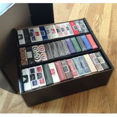 this is just a shoe box with inserts.  Great idea though using discount bin from craft store.